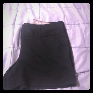 Black shorts with a satin trim size 10